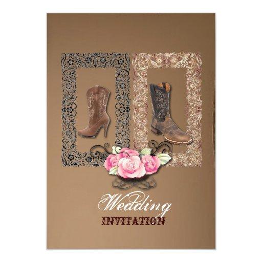 Western Wedding Invitations: Country Cowboy Boots Western Wedding Invitation