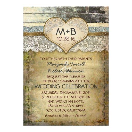 """Www Zazzle Com Wedding Invitations: Country Rustic Wedding Invitations 5"""" X 7"""" Invitation Card"""