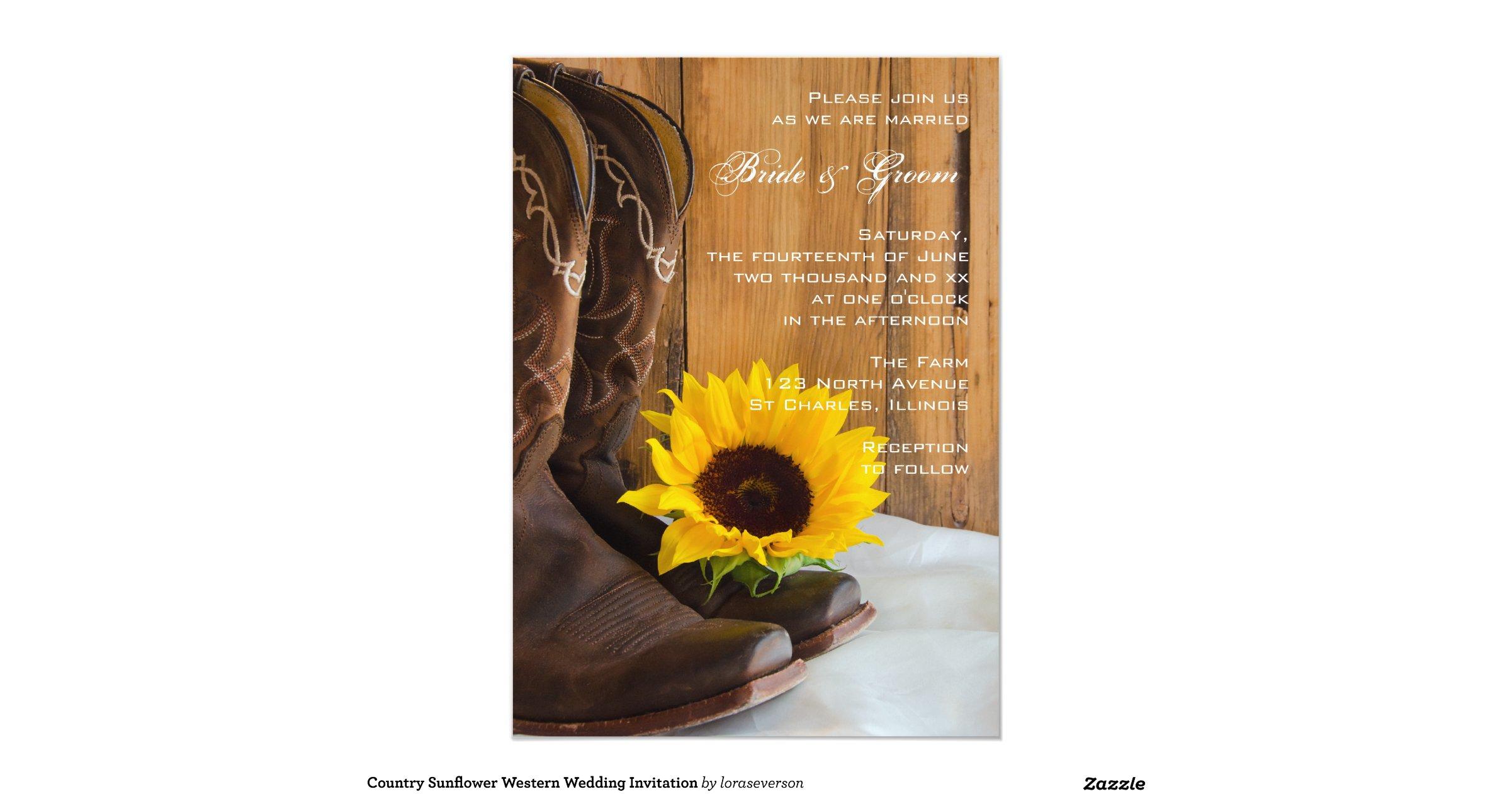 Western Wedding Invites: Country_sunflower_western_wedding_invitation