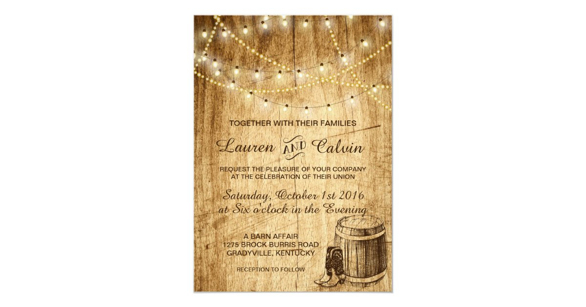 Cowboy Boot Wedding Invitations: Country Wedding Invitation With Cowboy Boots