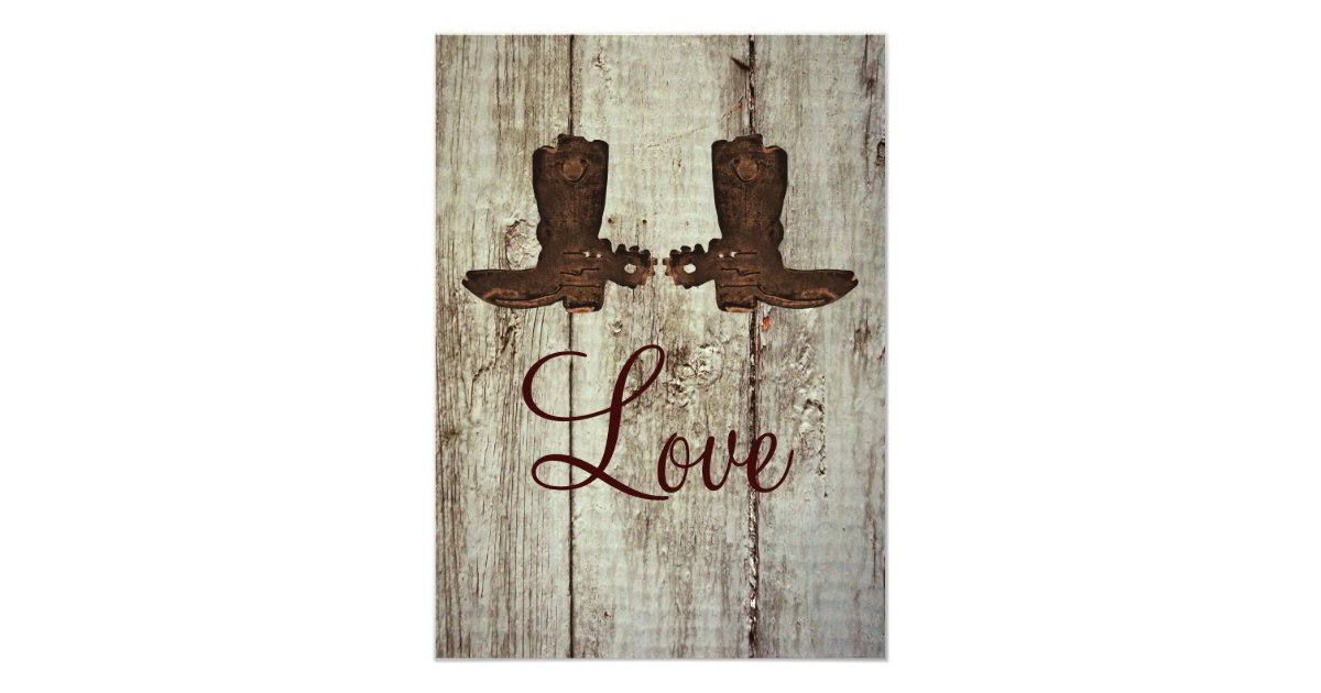Cowboy Boot Wedding Invitations: Country Western Cowboy Boots Wedding Invitations