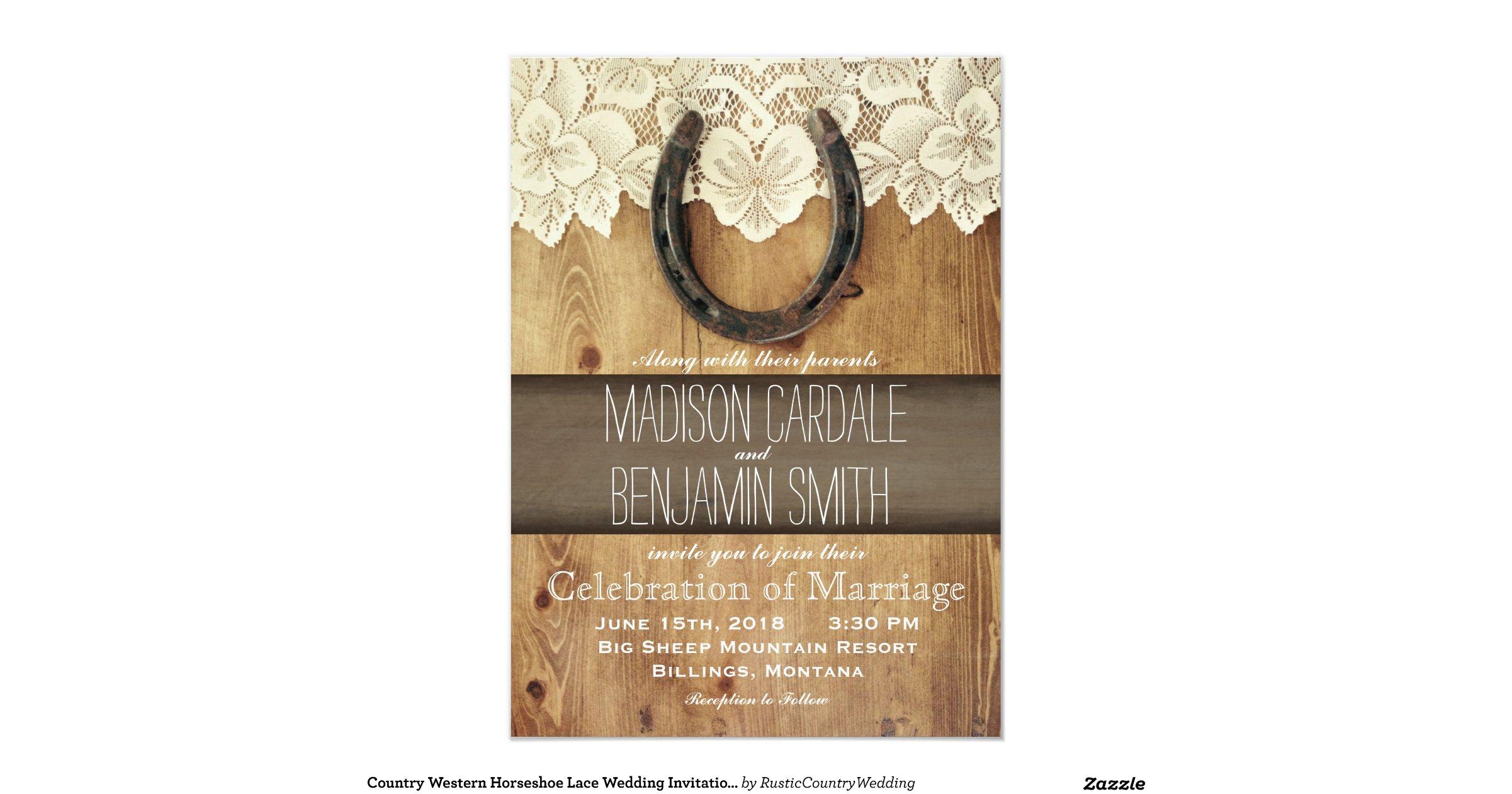 Western Wedding Invites: Country_western_horseshoe_lace_wedding_invitations