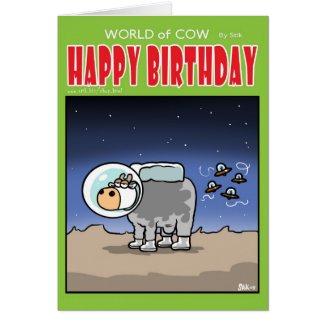 Cow Astronaut card