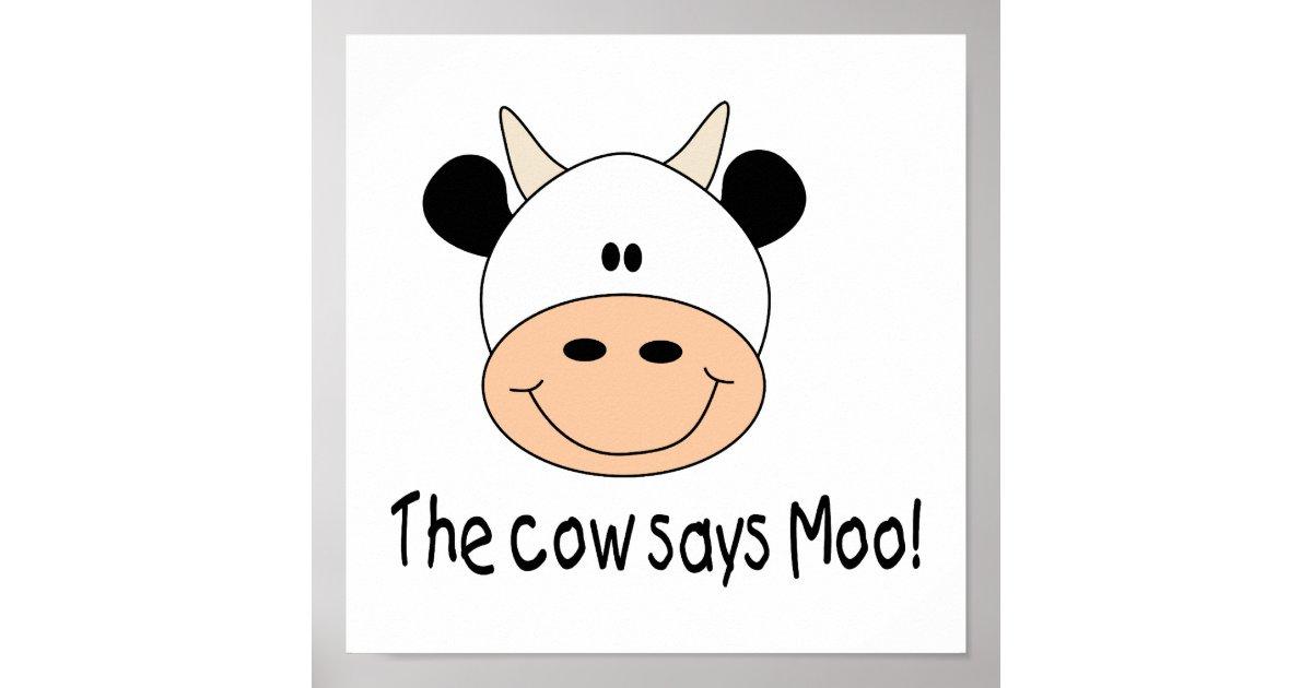Cow says moo cartoon