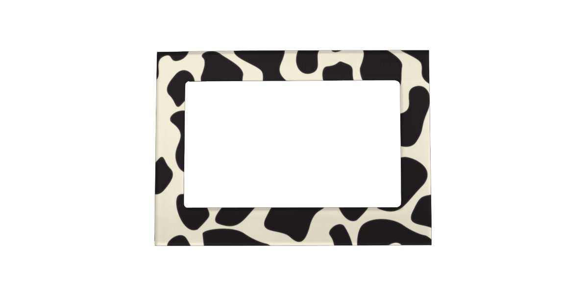 Cow Skin Cow Pattern Magnetic Frame Zazzle
