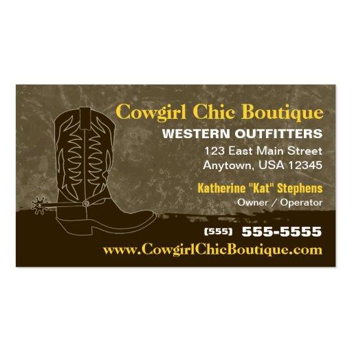Cowboy Boot Business Card Zazzle