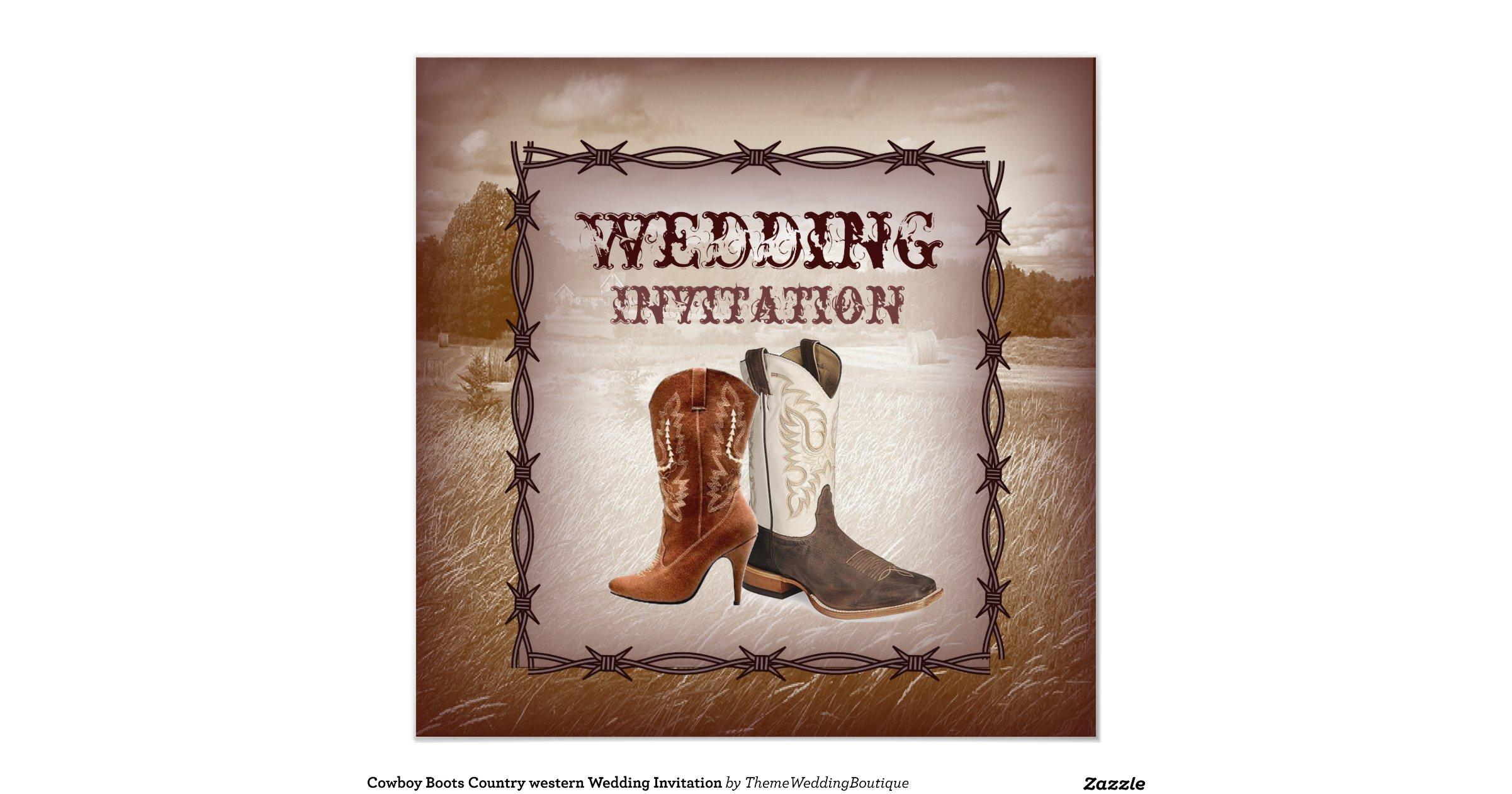 Cowboy Boot Wedding Invitations: Cowboy_boots_western_country_wedding_invitation