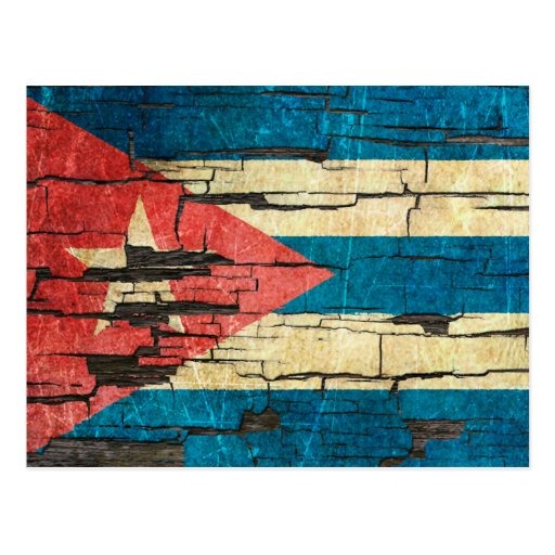Cracked Cuban Flag Peeling Paint Effect Postcard | Zazzle