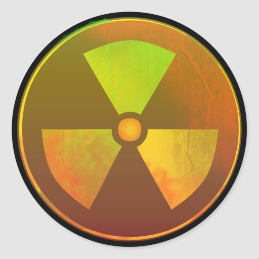 Cracked Radioactive Nuclear Symbol Sticker | Zazzle