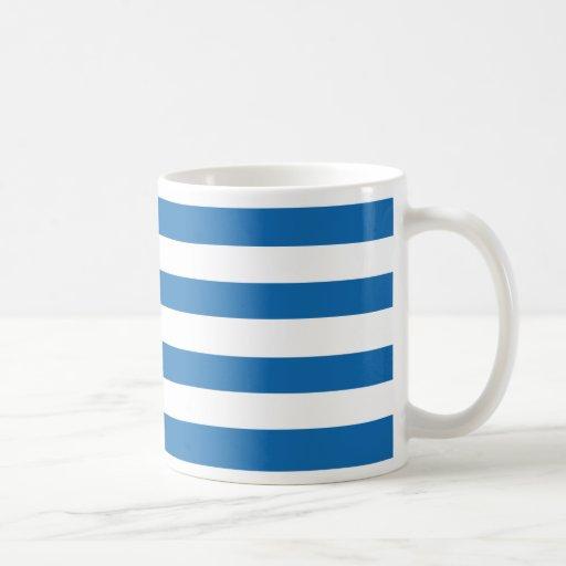 Crayon Blue And White Horizontal Large Stripes Coffee Mug ...