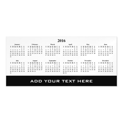 make my own calendar template - create your own 2016 calendar template magnetic card zazzle