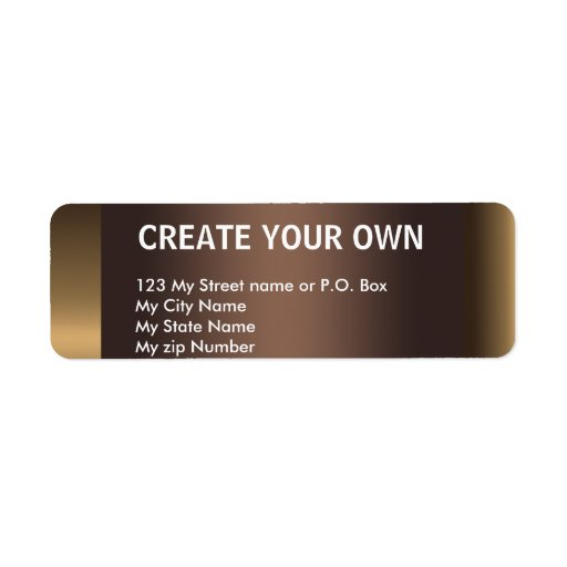 Create Your Own 29 Simple Return Address Label, Return