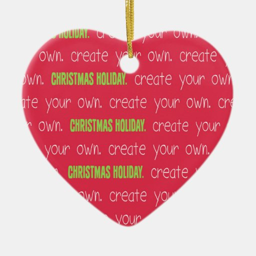 Create your own Christmas or Holiday Ornament | Zazzle