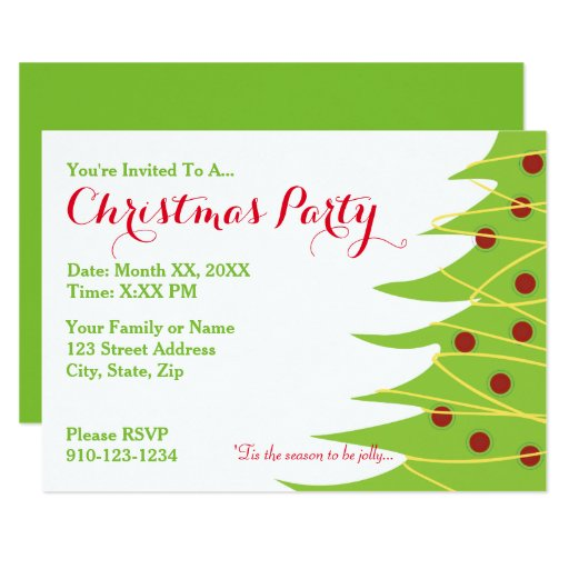 Invitation Maker Design Your Own Custom Invitation Cards: Create Your Own Christmas Party Invitation