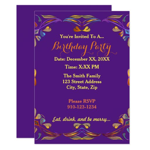 Invitation Maker Design Your Own Custom Invitation Cards: Create Your Own Colorful Birthday Party Invitation