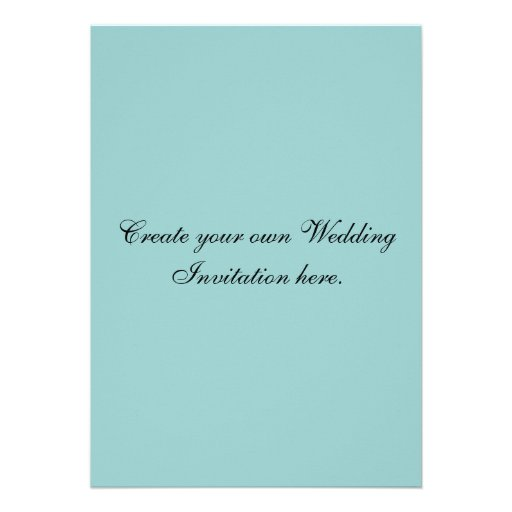 """Write Your Own Wedding Invitations: Create Your Own Custom Blue Wedding Invitations 5"""" X 7"""