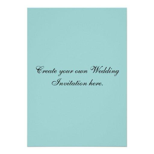 "Create Your Own Custom Blue Wedding Invitations 5"" X 7"