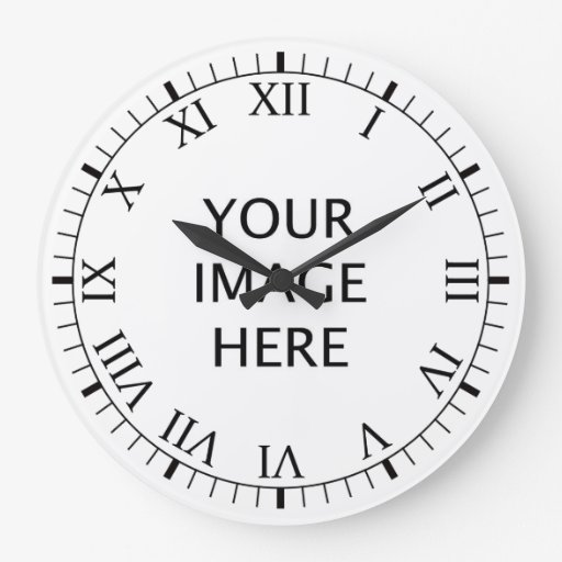Create Your Own Custom Large Clock Zazzle