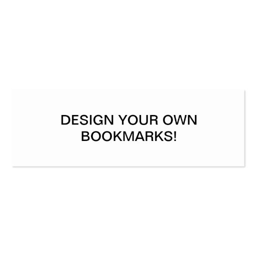 Create your own mini bookmark business card zazzle for Create your own bookmark template