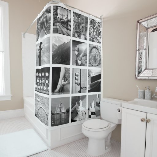 Create Your Own Photo Collage Shower Curtain Zazzle