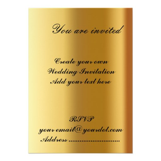 Write Your Own Wedding Invitations: Create Your Own Wedding Invitation 2 Custom Invitation