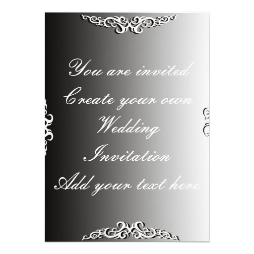 Create Your Own Wedding Invitation 3 Invitation