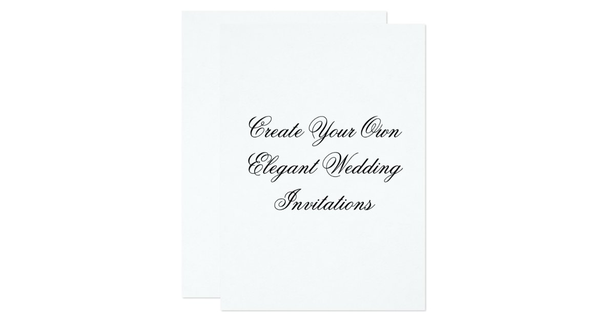 Wedding Invite Ideas Make Your Own: Create Your Own Wedding Invitations