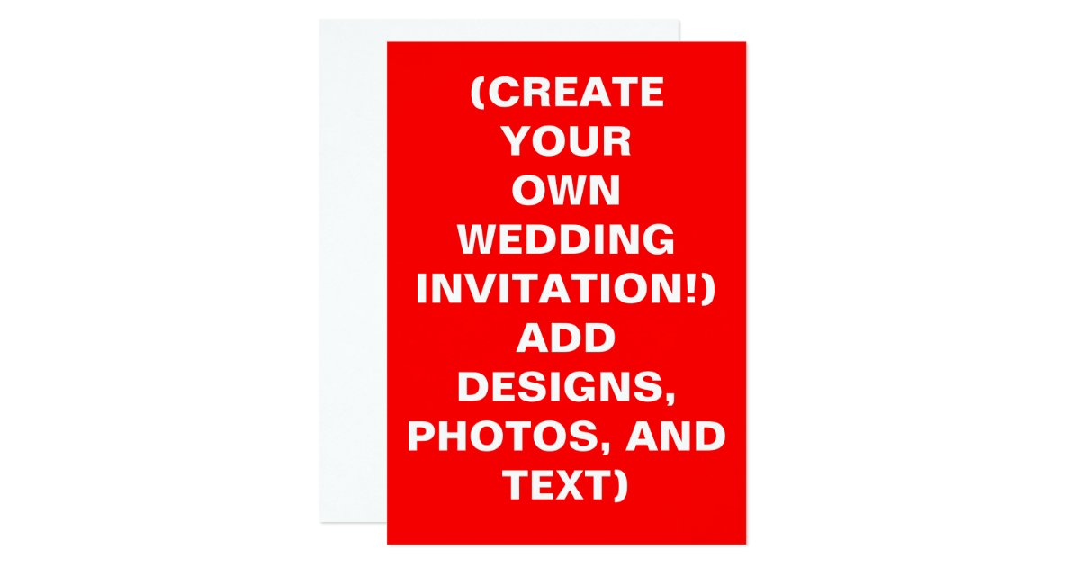 Make Your Own Wedding Invitations Online Free: Create Your Own Wedding Invitations