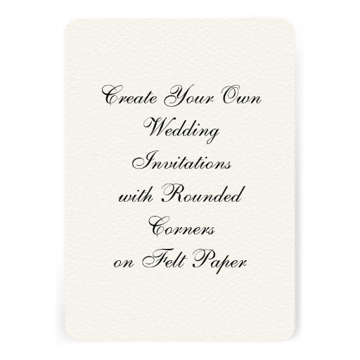 """Write Your Own Wedding Invitations: Create Your Own Wedding Invitations Felt 5"""" X 7"""""""