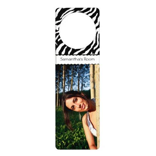 Design Your Own Door Hangers: Create Your Own Zebra Pattern Custom Door Hanger