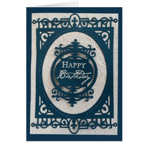 Creative Die Cut Happy Birthday Card