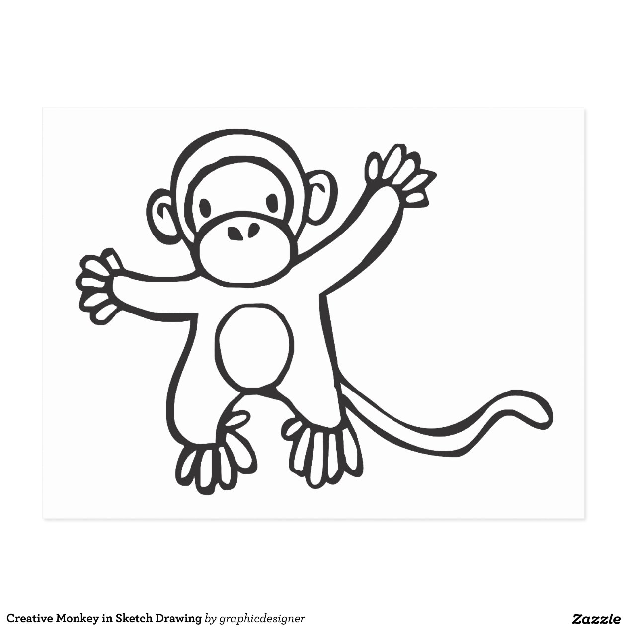 Creative Monkey In Sketch Easy Swirl Designs To Draw On Paper