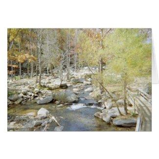 Creek at Chimney Rock card