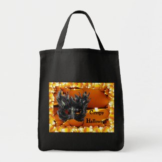 Creepy Halloween Tote Bag bag