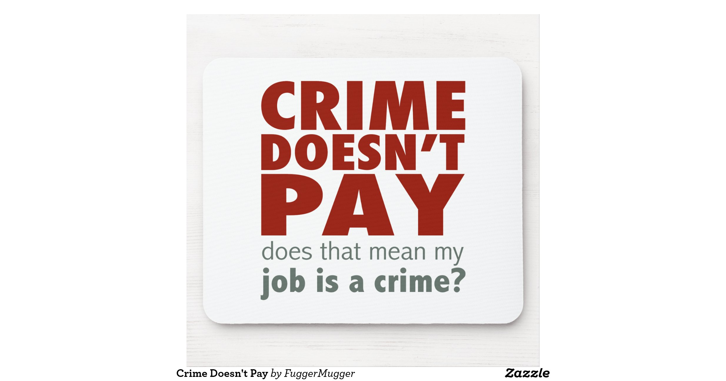 Essay crime doesn't pay