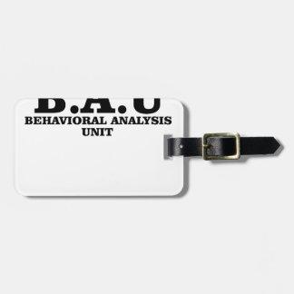 Behavioral analysis unit