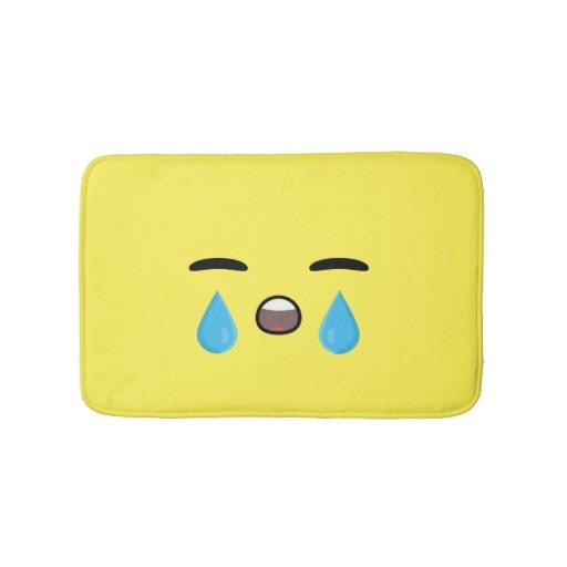 Cry Emoji Bathroom Mat Zazzle