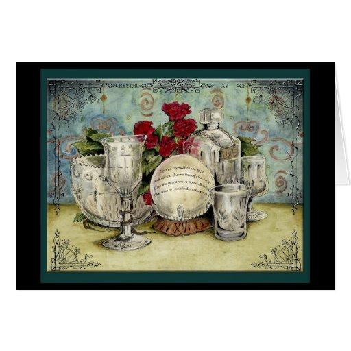 Crystal Gift Ideas 15th Wedding Anniversary: Crystal 15th Year Wedding Anniversary Gift Card