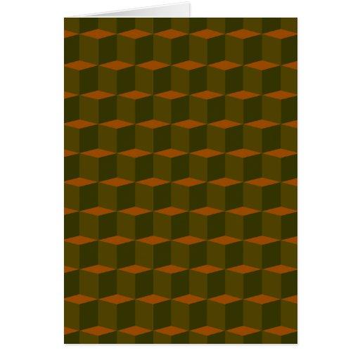 3 dimensional cube template - cube 3 dimensional 3d pattern design card zazzle