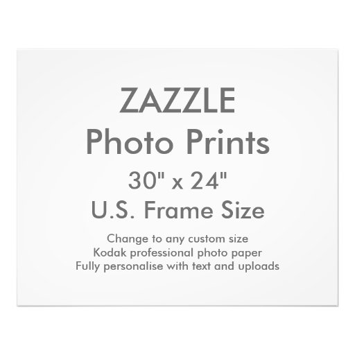 custom 30 x 24 photo print us frame size zazzle. Black Bedroom Furniture Sets. Home Design Ideas