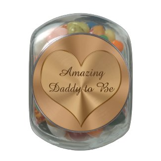 Custom Amazing Daddy to Be Gifts Candy Jar