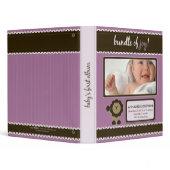 Custom Baby Album: Lavender Lion Bundle of Joy binder