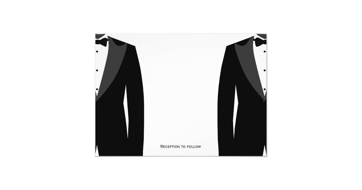 Gay Wedding Invitations: Custom Black And White Gay Wedding Invitations