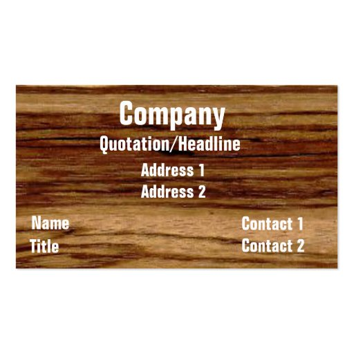 Custom Business Card Template 2