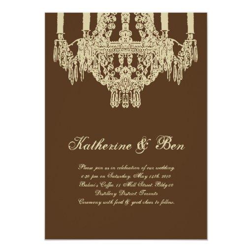 Www Zazzle Com Wedding Invitations: Custom Chandelier Wedding Invitations