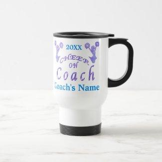 Custom Cheer Coach Gifts Ideas with Coach's NAME Mugs