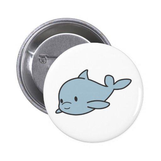 Custom Cute Baby Dolphin Cartoon Pinback Buttons   Zazzle