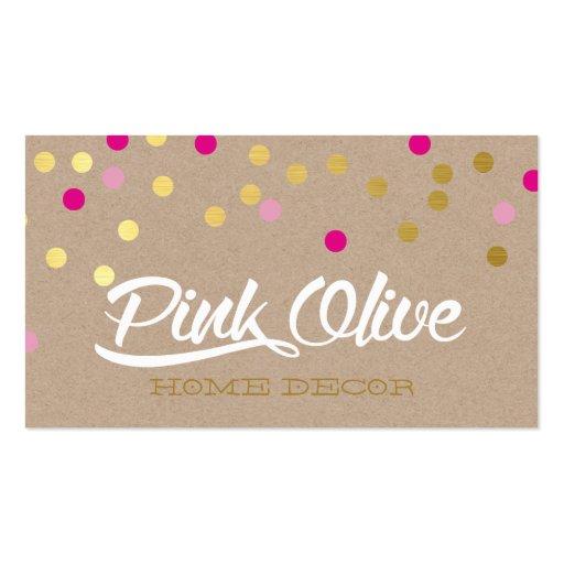 CUSTOM DESIGN - Pink Olive Home Decor Business Card