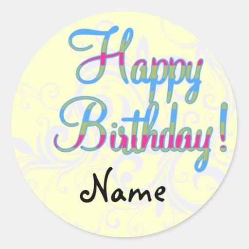 Custom Happy Birthday Stickers