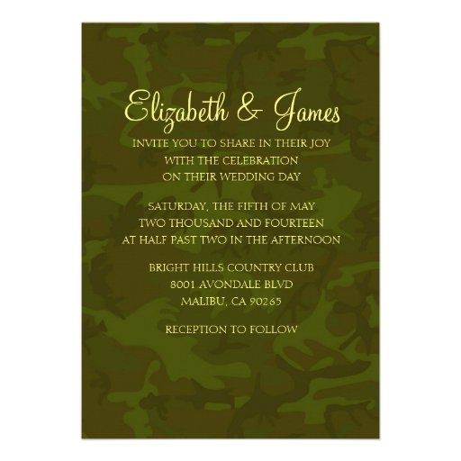 Marine Wedding Invitations: Personalized Military Invitations